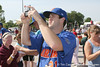Florida sophomore pitcher Justin Poovey takes a photo before the Gators' pre-College World Series practice on Friday, June 18, 2010 at Rosenblatt Stadium in Omaha, Neb. / photo by Tim Casey