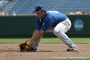 Florida sophomore Preston Tucker fields a ground ball during the Gators' pre-College World Series practice on Friday, June 18, 2010 at Rosenblatt Stadium in Omaha, Neb. / photo by Tim Casey