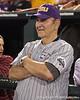 Former LSU coach Skip Bertman looks on during the College World Series Opening Ceremonies on Friday, June 18, 2010 at Rosenblatt Stadium in Omaha, Neb. / photo by Tim Casey