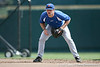 Florida sophomore catcher Ben McMahan fields ground balls during the Gators' pre-College World Series practice on Friday, June 18, 2010 at Rosenblatt Stadium in Omaha, Neb. / photo by Tim Casey