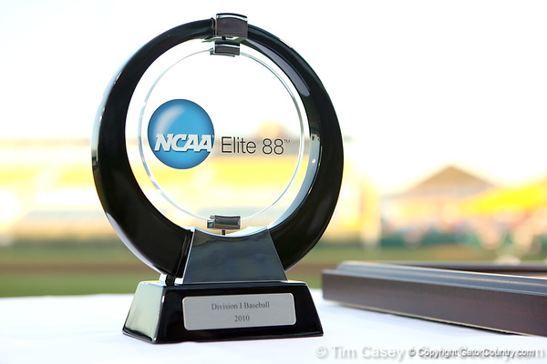 A special trophy for the student-athlete with the highest GPA of all participants was awarded during the College World Series Opening Ceremonies on Friday, June 18, 2010 at Rosenblatt Stadium in Omaha, Neb. / photo by Tim Casey