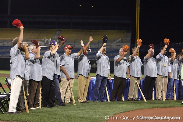 during the College World Series Opening Ceremonies on Friday, June 18, 2010 at Rosenblatt Stadium in Omaha, Neb. / photo by Tim Casey