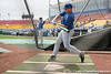 Florida sophomore infielder Jerico Weitzel takes batting practice during the Gators' pre-College World Series practice on Friday, June 18, 2010 at Rosenblatt Stadium in Omaha, Neb. / photo by Tim Casey