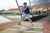 Florida freshman infielder Nolan Fontana takes batting practice during the Gators' pre-College World Series practice on Friday, June 18, 2010 at Rosenblatt Stadium in Omaha, Neb. / photo by Tim Casey