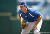 Florida sophomore Preston Tucker works out during the Gators' pre-College World Series practice on Friday, June 18, 2010 at Rosenblatt Stadium in Omaha, Neb. / photo by Tim Casey