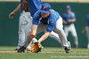 Florida sophomore infielder Jerico Weitzel fields a ground ball during the Gators' pre-College World Series practice on Friday, June 18, 2010 at Rosenblatt Stadium in Omaha, Neb. / photo by Tim Casey