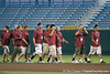 Arizona State players enter the stadium during the College World Series Opening Ceremonies on Friday, June 18, 2010 at Rosenblatt Stadium in Omaha, Neb. / photo by Tim Casey