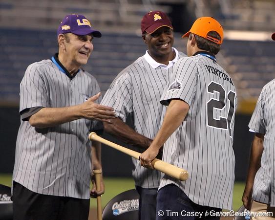 during the College World Series Opening Ceremonies on Friday, June 18, 2010 at Rosenblatt Stadium in Omaha, Neb. / photo by Tim Casey