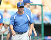 Florida baseball assistant coach Brad Weitzel looks on during the Gators' pre-College World Series practice on Friday, June 18, 2010 at Rosenblatt Stadium in Omaha, Neb. / photo by Tim Casey