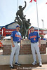 Florida junior Josh Adams and freshman infielder Nolan Fontana pose for a photo during the Gators' pre-College World Series practice on Friday, June 18, 2010 at Rosenblatt Stadium in Omaha, Neb. / photo by Tim Casey