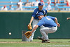 Florida freshman infielder Nolan Fontana fields a ground ball during the Gators' pre-College World Series practice on Friday, June 18, 2010 at Rosenblatt Stadium in Omaha, Neb. / photo by Tim Casey