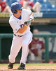 Florida sophomore outfielder Daniel Pigott lines up a bunt during the Gators' 5-4 win against the Arkansas Razorbacks in the SEC Tournament on Thursday, May 27, 2010 at Regions Park in Hoover, Ala. / Gator Country photo by Tim Casey