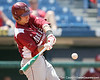 Arkansas' Collin Kuhn bats during the Gators' 5-4 win against the Arkansas Razorbacks in the SEC Tournament on Thursday, May 27, 2010 at Regions Park in Hoover, Ala. / Gator Country photo by Tim Casey