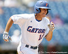 Florida sophomore outfielder Tyler Thompson runs out a ground ball during the Gators' 5-4 win against the Arkansas Razorbacks in the SEC Tournament on Thursday, May 27, 2010 at Regions Park in Hoover, Ala. / Gator Country photo by Tim Casey