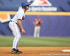 Florida sophomore infielder Jerico Weitzel takes a lead off of second base during the Gators' 5-4 win against the Arkansas Razorbacks in the SEC Tournament on Thursday, May 27, 2010 at Regions Park in Hoover, Ala. / Gator Country photo by Tim Casey