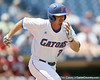 Florida junior Josh Adams runs to first base during the Gators' 5-4 win against the Arkansas Razorbacks in the SEC Tournament on Thursday, May 27, 2010 at Regions Park in Hoover, Ala. / Gator Country photo by Tim Casey