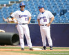 Florida sophomore Preston Tucker stands on first base after an infield single during the Gators' 5-4 win against the Arkansas Razorbacks in the SEC Tournament on Thursday, May 27, 2010 at Regions Park in Hoover, Ala. / Gator Country photo by Tim Casey