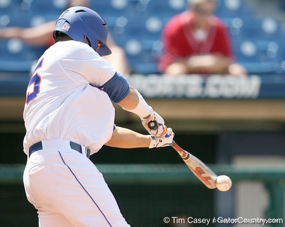 Florida sophomore Preston Tucker grounds out to the pitcher during the Gators' 5-4 win against the Arkansas Razorbacks in the SEC Tournament on Thursday, May 27, 2010 at Regions Park in Hoover, Ala. / Gator Country photo by Tim Casey