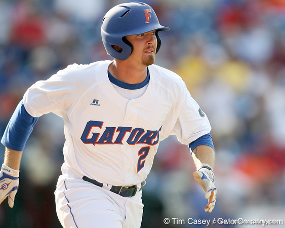 Florida junior Josh Adams executes a sacrifice bunt during the Gators' 10-6 loss to the LSU Tigers in the SEC Tournament on Wednesday, May 26, 2010 at Regions Park in Hoover, Ala. / Gator Country photo by Tim Casey