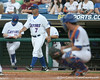 Florida baseball head coach Kevin O'Sullivan walks to the mound during the Gators' 10-6 loss to the LSU Tigers in the SEC Tournament on Wednesday, May 26, 2010 at Regions Park in Hoover, Ala. / Gator Country photo by Tim Casey