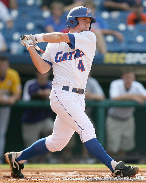 Florida freshman infielder Nolan Fontana strikes out during the Gators' 10-6 loss to the LSU Tigers in the SEC Tournament on Wednesday, May 26, 2010 at Regions Park in Hoover, Ala. / Gator Country photo by Tim Casey