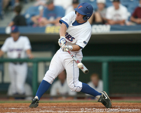Florida freshman infielder Nolan Fontana fouls off a pitch during the Gators' 10-6 loss to the LSU Tigers in the SEC Tournament on Wednesday, May 26, 2010 at Regions Park in Hoover, Ala. / Gator Country photo by Tim Casey