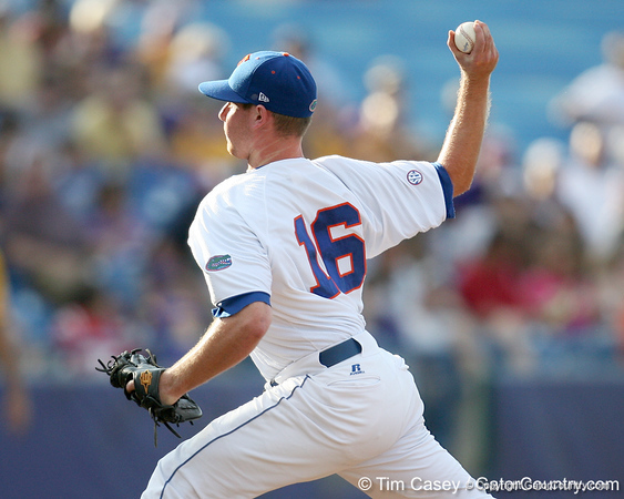 Florida sophomore Anthony DeSclafani pitches during the Gators' 10-6 loss to the LSU Tigers in the SEC Tournament on Wednesday, May 26, 2010 at Regions Park in Hoover, Ala. / Gator Country photo by Tim Casey