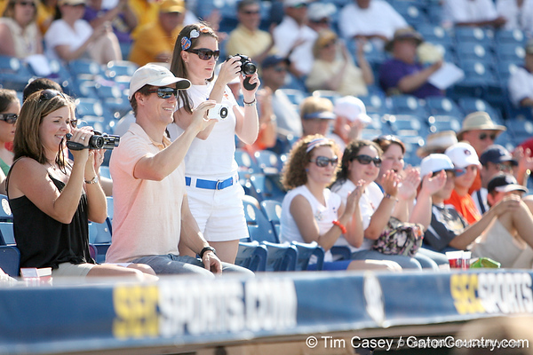 Florida fans look on before the Gators' 10-6 loss to the LSU Tigers in the SEC Tournament on Wednesday, May 26, 2010 at Regions Park in Hoover, Ala. / Gator Country photo by Tim Casey