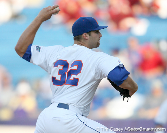 Florida freshman pitcher Steven Rodriguez winds up during the Gators' 10-6 loss to the LSU Tigers in the SEC Tournament on Wednesday, May 26, 2010 at Regions Park in Hoover, Ala. / Gator Country photo by Tim Casey