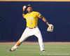LSU centerfielder Leon Landry throws the ball to the infield after a diving catch during the Gators' 10-6 loss to the LSU Tigers in the SEC Tournament on Wednesday, May 26, 2010 at Regions Park in Hoover, Ala. / Gator Country photo by Tim Casey