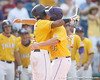 LSU's Leon Landry greets Matt Gaudet after a home run during the Gators' 10-6 loss to the LSU Tigers in the SEC Tournament on Wednesday, May 26, 2010 at Regions Park in Hoover, Ala. / Gator Country photo by Tim Casey