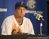 Florida freshman pitcher Brian Johnson talks to reporters after the Gators' 10-6 loss to the LSU Tigers in the SEC Tournament on Wednesday, May 26, 2010 at Regions Park in Hoover, Ala. / Gator Country photo by Tim Casey