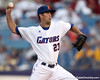 Florida senior pitcher Chas Spottswood winds up during the Gators' 10-6 loss to the LSU Tigers in the SEC Tournament on Wednesday, May 26, 2010 at Regions Park in Hoover, Ala. / Gator Country photo by Tim Casey