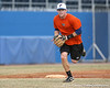 Florida junior infielder Bryson Smith throws to first base during the Gators' first day of practice on Friday, January 29, 2010 at McKethan Stadium in Gainesville, Fla. / Gator Country photo by Tim Casey