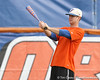 Florida senior outfielder Jonathan Pigott warms up during the Gators' first day of practice on Friday, January 29, 2010 at McKethan Stadium in Gainesville, Fla. / Gator Country photo by Tim Casey
