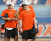 Florida senior pitcher Jeff Barfield warms up during the Gators' first day of practice on Friday, January 29, 2010 at McKethan Stadium in Gainesville, Fla. / Gator Country photo by Tim Casey
