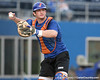 Florida sophomore catcher Ben McMahan throws to first base during the Gators' first day of practice on Friday, January 29, 2010 at McKethan Stadium in Gainesville, Fla. / Gator Country photo by Tim Casey
