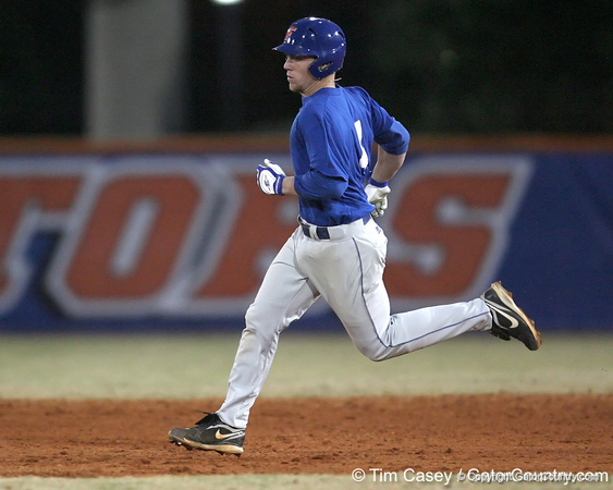 Florida freshman infielder Nolan Fontana runs to second base during the Gators' first day of practice on Friday, January 29, 2010 at McKethan Stadium in Gainesville, Fla. / Gator Country photo by Tim Casey