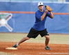Florida freshman infielder Cody Dent fields a throw at second base during the Gators' first day of practice on Friday, January 29, 2010 at McKethan Stadium in Gainesville, Fla. / Gator Country photo by Tim Casey