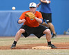 Florida freshman infielder Nolan Fontana fields a throw at third base during the Gators' first day of practice on Friday, January 29, 2010 at McKethan Stadium in Gainesville, Fla. / Gator Country photo by Tim Casey