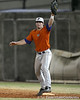 Florida sophomore catcher Ben McMahan fields a throw at first base during the Gators' first day of practice on Friday, January 29, 2010 at McKethan Stadium in Gainesville, Fla. / Gator Country photo by Tim Casey
