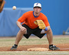 Florida junior Josh Adams fields a throw at third base during the Gators' first day of practice on Friday, January 29, 2010 at McKethan Stadium in Gainesville, Fla. / Gator Country photo by Tim Casey
