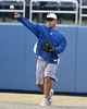 Florida baseball head coach Kevin O'Sullivan warms up during the Gators' first day of practice on Friday, January 29, 2010 at McKethan Stadium in Gainesville, Fla. / Gator Country photo by Tim Casey