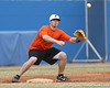 Florida junior Josh Adams reaches for a throw at third base during the Gators' first day of practice on Friday, January 29, 2010 at McKethan Stadium in Gainesville, Fla. / Gator Country photo by Tim Casey
