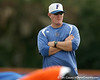 Florida baseball volunteer assistant coach Don Norris oversees warmups during the Gators' first day of practice on Friday, January 29, 2010 at McKethan Stadium in Gainesville, Fla. / Gator Country photo by Tim Casey