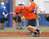 Florida junior infielder Bryson Smith covers third base during the Gators' first day of practice on Friday, January 29, 2010 at McKethan Stadium in Gainesville, Fla. / Gator Country photo by Tim Casey