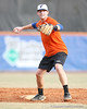 Florida junior infielder Bryson Smith throws the ball to first base during the Gators' first day of practice on Friday, January 29, 2010 at McKethan Stadium in Gainesville, Fla. / Gator Country photo by Tim Casey