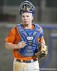 Florida freshman catcher Austin Maddox runs off of the field during the Gators' first day of practice on Friday, January 29, 2010 at McKethan Stadium in Gainesville, Fla. / Gator Country photo by Tim Casey
