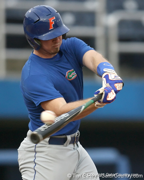 Florida junior Josh Adams bats during the Gators' first day of practice on Friday, January 29, 2010 at McKethan Stadium in Gainesville, Fla. / Gator Country photo by Tim Casey