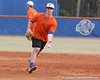 Florida sophomore Preston Tucker flips the ball to first base during the Gators' first day of practice on Friday, January 29, 2010 at McKethan Stadium in Gainesville, Fla. / Gator Country photo by Tim Casey